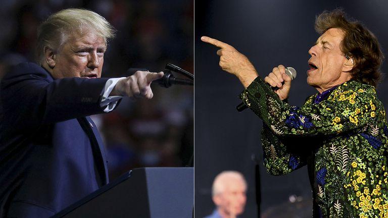Los #RollingStones contra #DonaldTrump