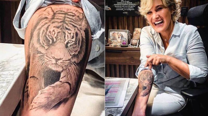 Cynthia Viteri con tatuajes