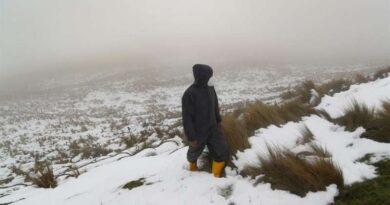 Nevada sorprende a zona andina de Píllaro, en Ecuador