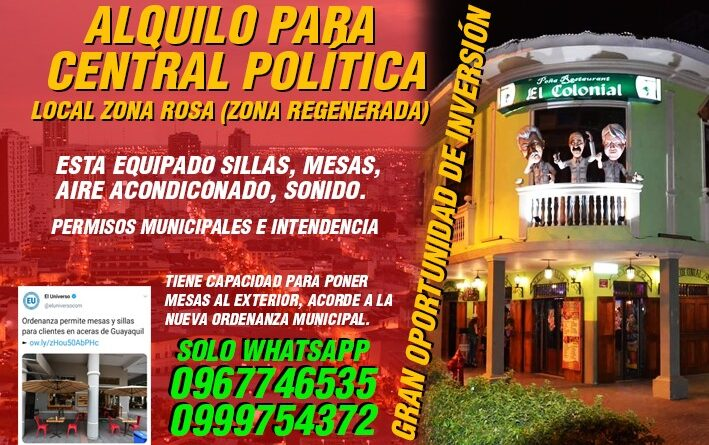#guayaquil, #ecuador, #guayas, #ElColonialBar, #instalike, @abalvaronoboa, @alvaro.noboa, @guillermolasso, #elecciones2021, #coronavirus,