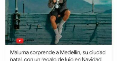 Maluma sorprende a Medellín, su ciudad natal