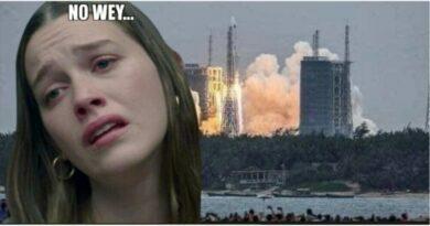 Ruleta Rusa China! Cada hora y media el cohete da vuelta a la tierra y no se sabe dónde chu… caerá!!!