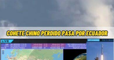 Cohete chino que se aproxima a la Tierra y que puede desplomarse este fin de semana